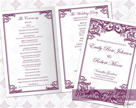 diy printable wedding ceremony program template 2335524