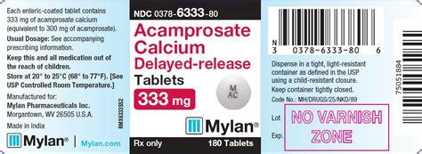 Acomposate For Detox by Acrosate Calcium Mylan Pharmaceuticals Inc Fda