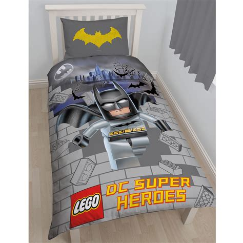 batman bedroom set dc comics batman superman duvet cover and pillowcase sets bedroom bedding kids ebay