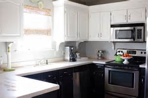 sweet something designs kitchen facelift reveal - kitchen white top cabinets black bottom cabinets pictures decorations inspiration and models