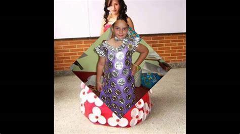 fotos de disfraces de reciclaje para nios vestidos disfraz con material de reciclaje youtube
