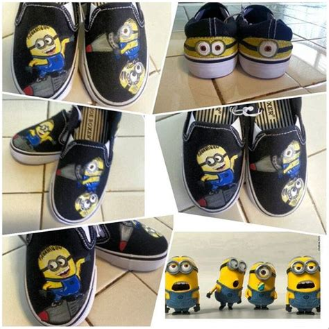 diy minion shoes custom painted minion shoes despicable me size 12