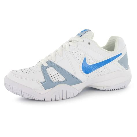 nike city court 7 tennis trainers junior boys white blue