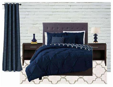navy blue  gray bedroom ideas  handymans daughter
