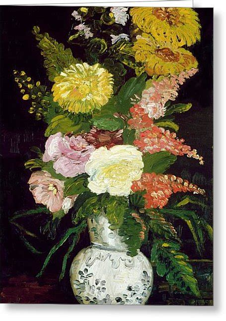 Gogh Vase Of Flowers by Vase Of Flowers 1886 Painting By Vincent Gogh