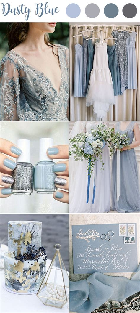 ultimate dusty blue color combinations  wedding