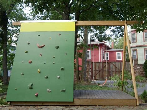 climbing structure for backyard build a combination swing set playhouse and climbing wall
