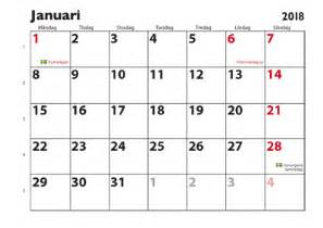 Kalender 2018 Veckonummer Almanacka Kalender