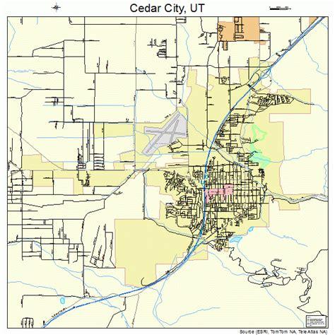 city utah map cedar city utah map 4911320