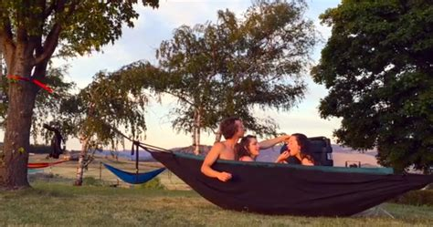 hammock bathtub you know you want a hot tub hammock