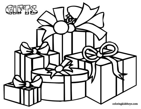 present coloring page printable christmas coloring pages 2010