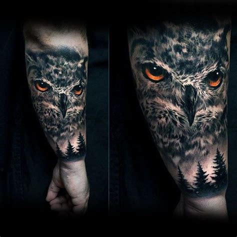 owl half sleeve tattoo 100 nature tattoos for great outdoor designs