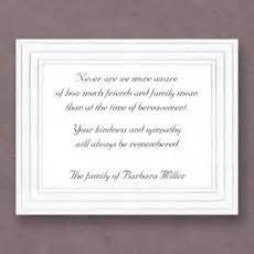 sympathy cards personalized sympathy acknowledgement cards the stationery studio