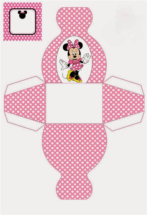 minnie mouse  printable dress shaped boxes