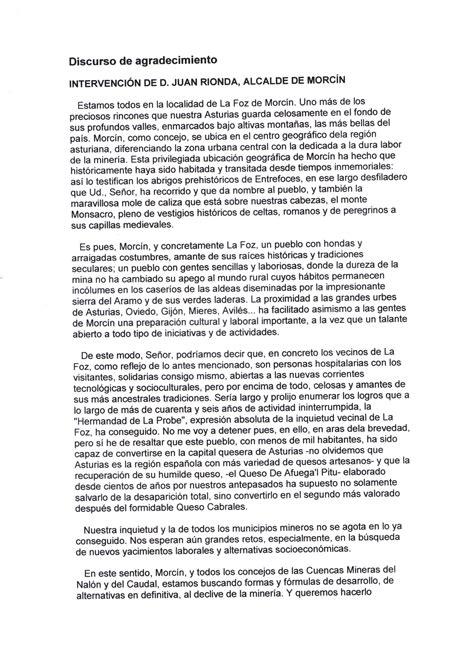 discurso para bautizo de una file discurso de agradecimiento del alcalde de morc 237 n 2002