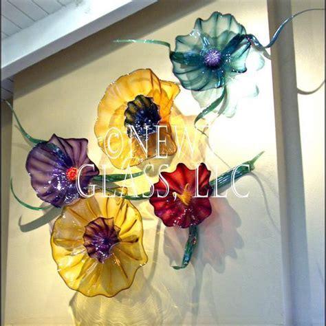 wall art designs blown glass wall art picture of hand botanical blown art glass wall flowers gallery