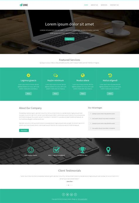 themes bootstrap html5 template one bootstrap html5 template