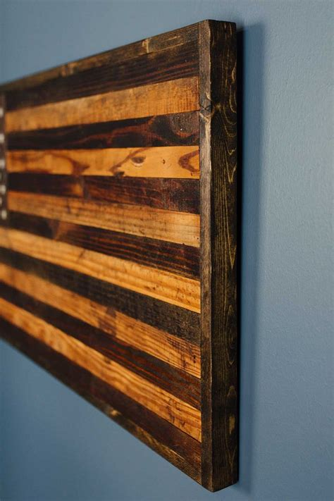 reclaimed barnwood rustic american flag home decor
