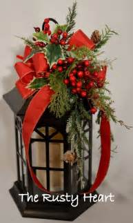 christmas lantern swag lantern decorations outdoor christmas and center pieces