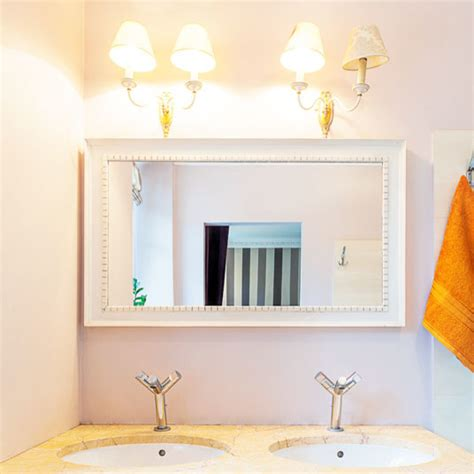 White Framed Mirror For Bathroom Custom Size White Framed Mirror Contemporary Bathroom Mirrors By Mirrorlot