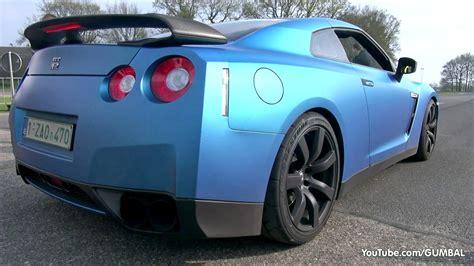 nissan gtr matte blue matte blue nissan r35 gt r w milltek exhaust vs bugatti