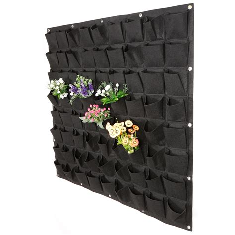 72 pockets vertical garden yard planter wall plant flower