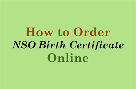 Nso Birth Certificate Records How To Order Nso Birth Certificate