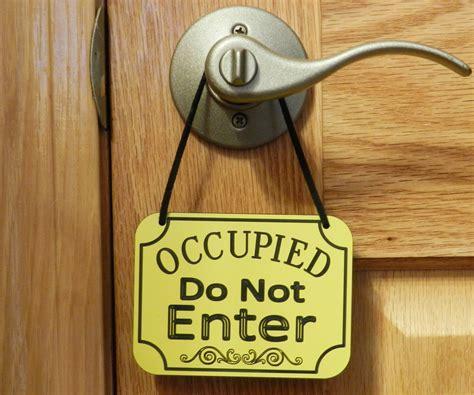 Door Knob Hanging Signs occupied do not enter sign door knob sign door hanging sign