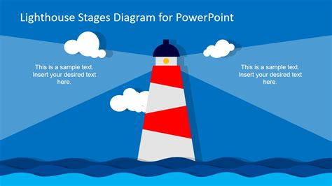 lighthouse stages diagram template for powerpoint slidemodel
