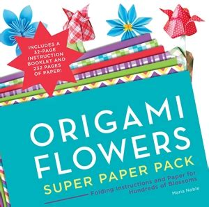 origami paper pack origami flowers paper pack by noble