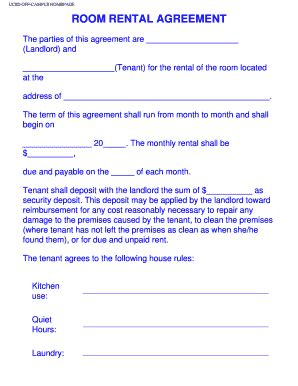 room rental agreement california room rental agreement forms and templates fillable printable sles for pdf word pdffiller