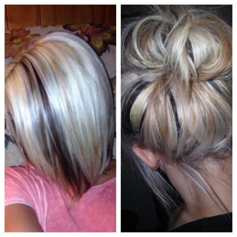 dirty blonde bob hairstyle with peek a boo highlights 169 best images about hair on pinterest