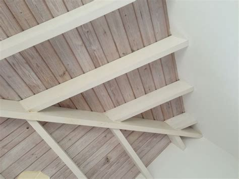 cool whitewashed wood ceiling love wood panelling