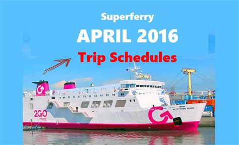 boat zamboanga to cebu 2go trip departure schedules april 2016 manila to cebu