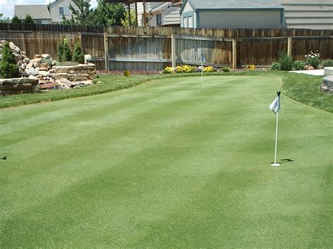 golf green for backyard putting greens com backyard golf green photos