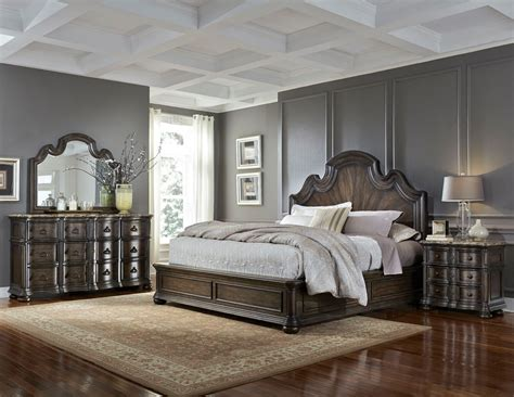 pulaski bedroom sale cortina pecan bedroom set panel bed dresser