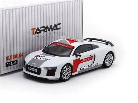 Tarmac Works Global 1 64 Audi R8 V10 Plus German Polizei tarmac works global64 1 64 audi r8 v10 plus audi r8 lms cup safety c