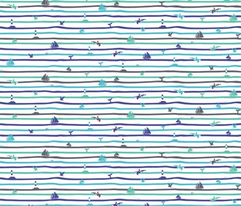 wave stripe by coinstore nautical stripes waves fabric gabriellemutel spoonflower