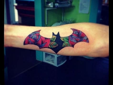 batman rose tattoo 50 iconic new school tattoo designs meanings main