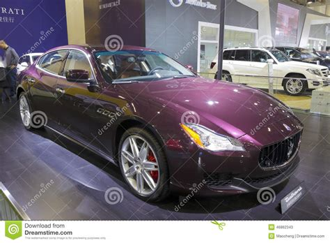 maserati purple purple maserati quattroporte car editorial stock photo