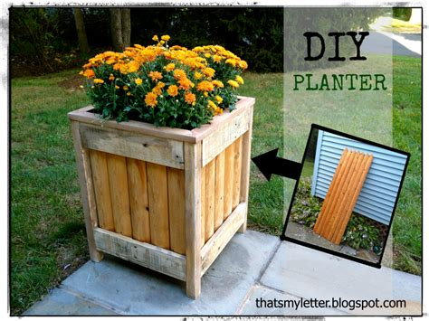 How To Build Wooden Planters by That S Letter Diy Outdoor Planter