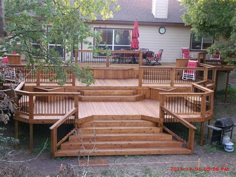 Multi Level Patio Designs by Best 25 Tiered Deck Ideas On Decks Deck And