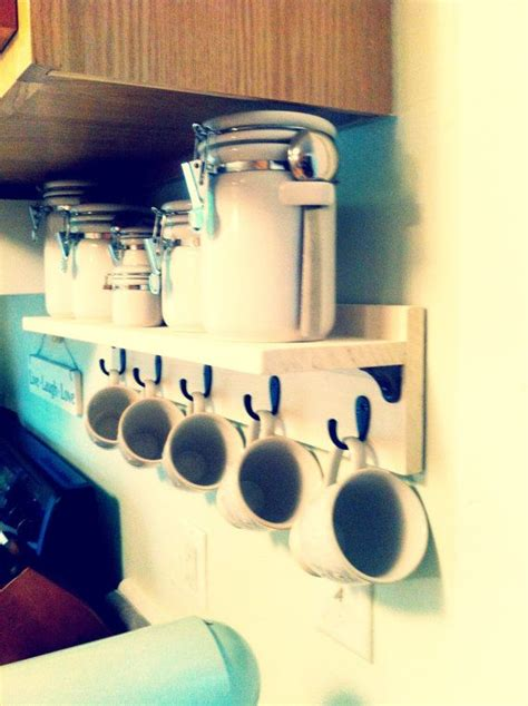 Mug Shelf Kitchen by Best 25 Coffee Area Ideas On Coffee Nook