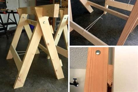 diy folding sawhorse plans woodworking projects plans