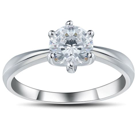 cut white sapphire 0 6ct 925 sterling silver promise