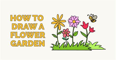 draw  flower garden  easy drawing tutorial