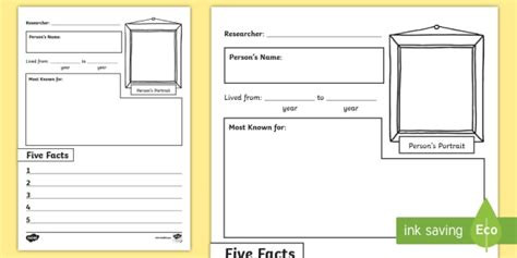 fact card template ks1 mini biography writing frame writing frame biography