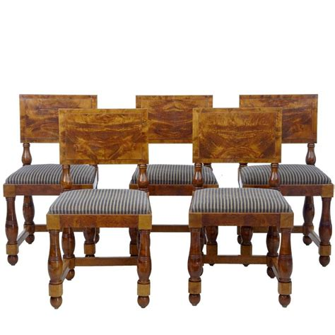 deco dining room furniture set of five deco period pine dining chairs for sale at 1stdibs