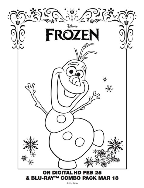 frozen olaf coloring sheet frozen photo 36756171 fanpop