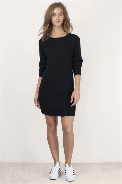 Sleeved Sweater Dress black sleeve sweater dress sweater vest